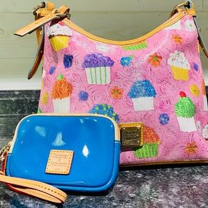 Dooney & Bourke Pink Cupcake Bag/Wristlet